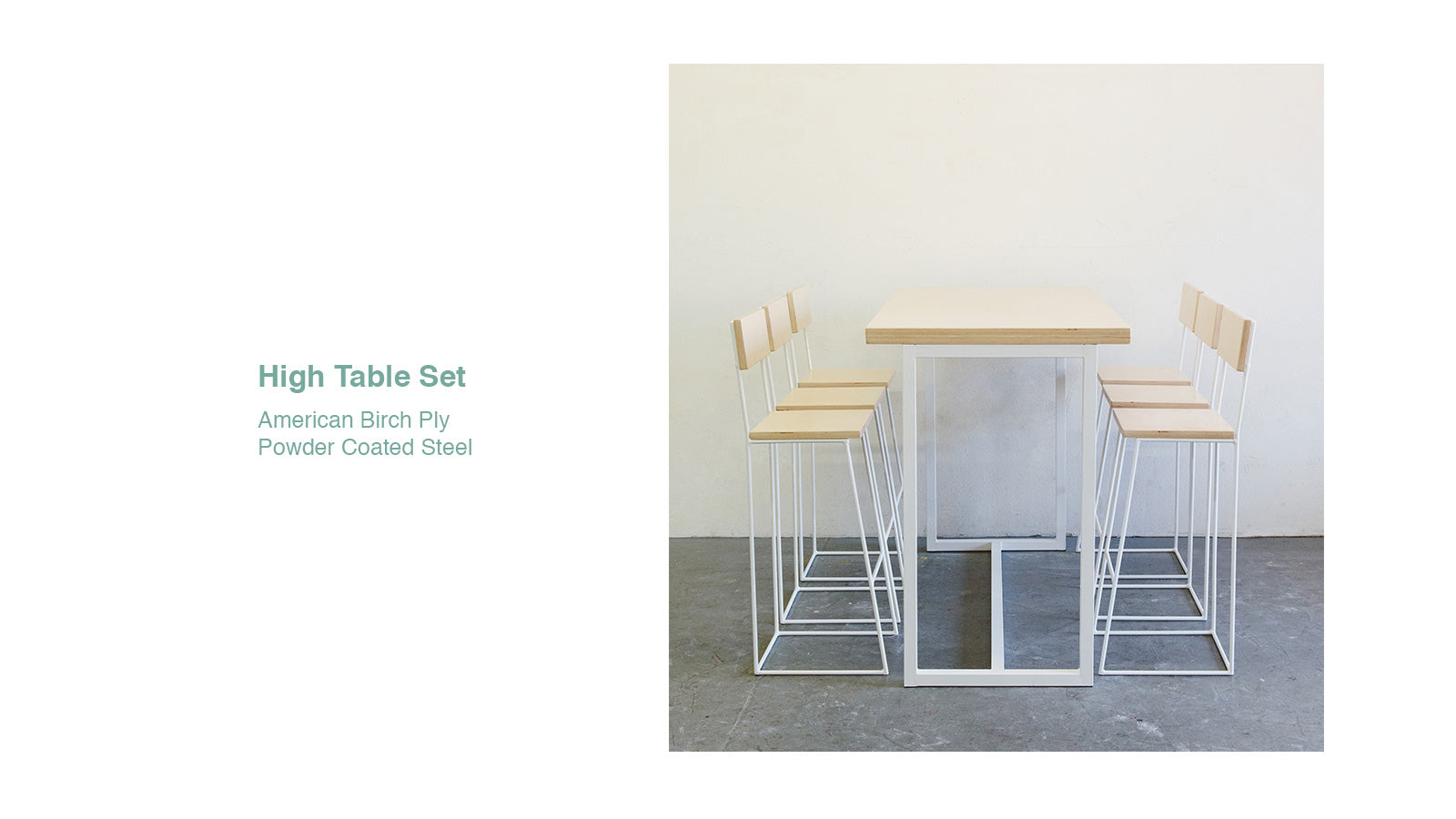 Kuarto Custom High Table Dining Set