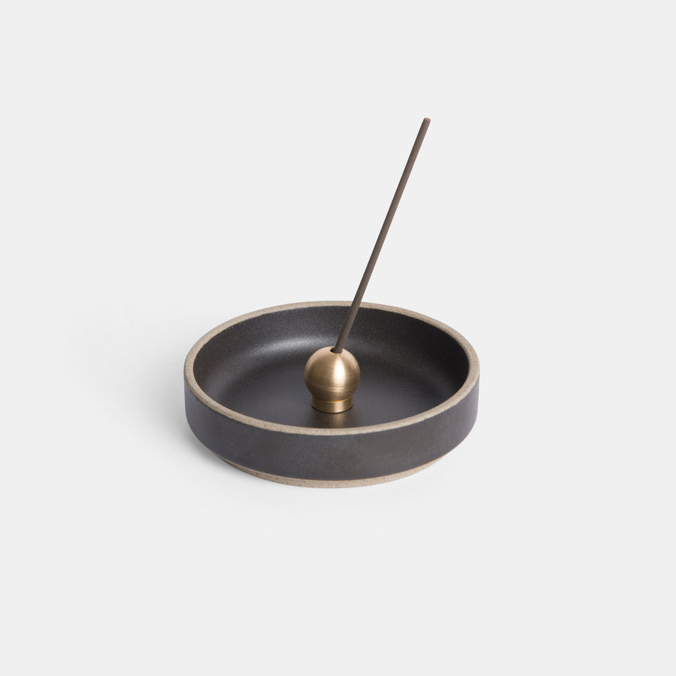 Brass Ball Incense Holder Black