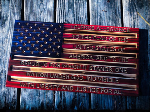 "American Flag ""Pledge Of Allegiance"""
