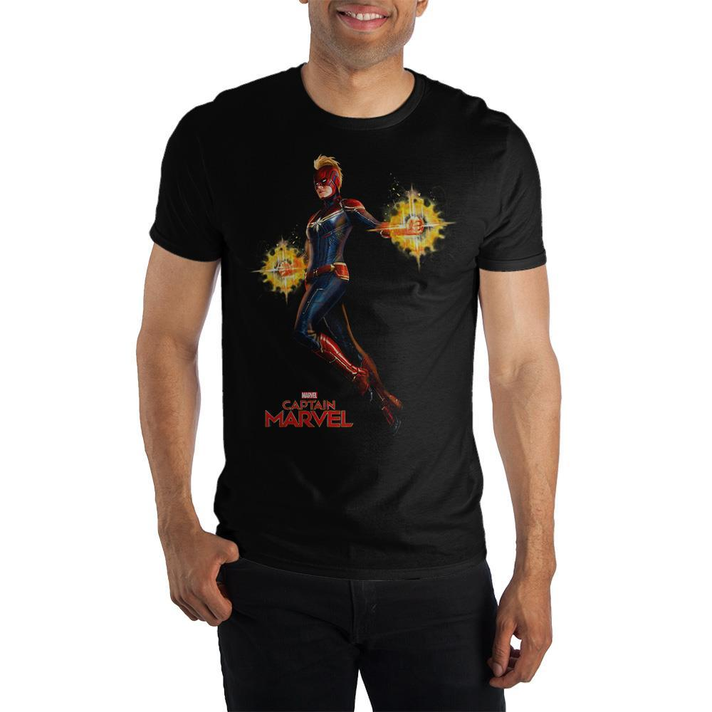 Marvel Clothing Captain Marvel Full Color Graphic Short-Sleeve T-Shirt