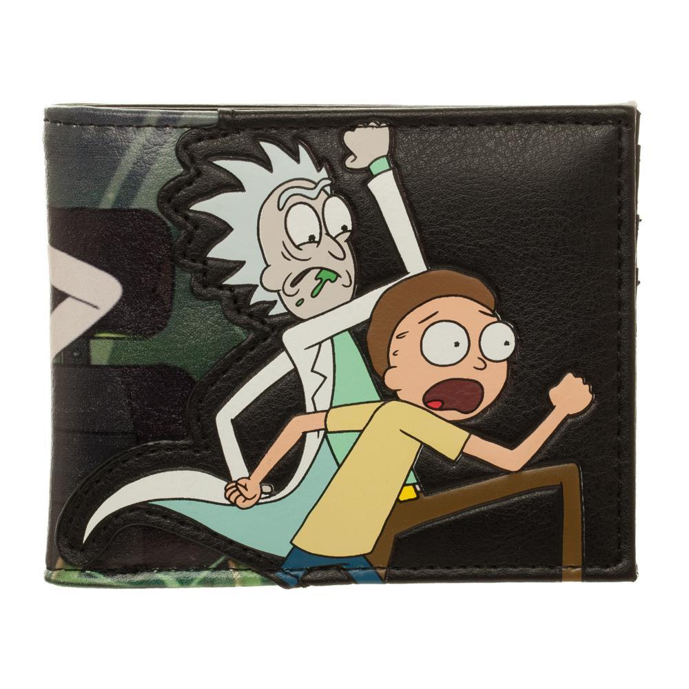 Rick and Morty BiFold Wallet Rick and Morty Accessories Rick & Morty Wallet - Rick and