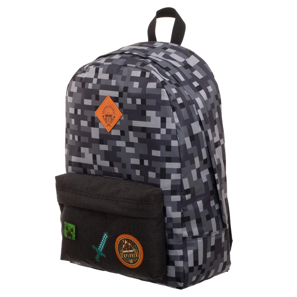 Minecraft Backpack  Minecraft Camo Grey Backpack