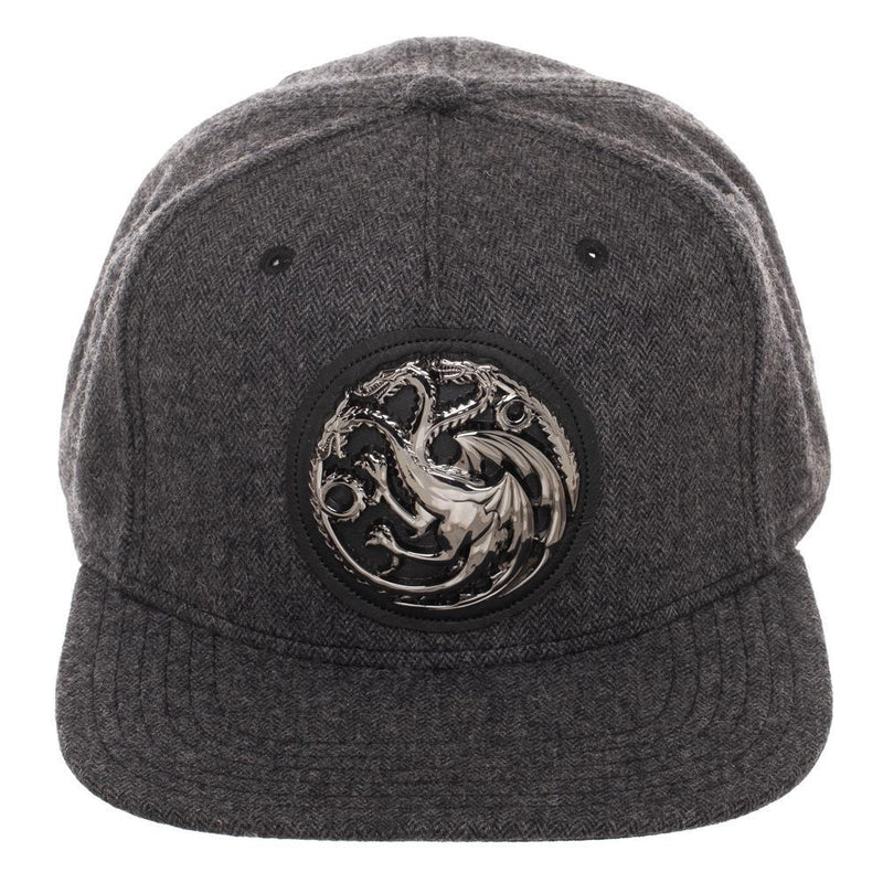 Game Of Thrones House Targaryen Harringbone Snapback Hat