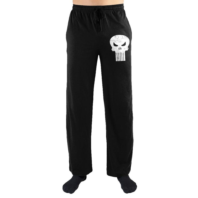 Marvel Comics The Punisher White Skull Print Men's Lounge Pants