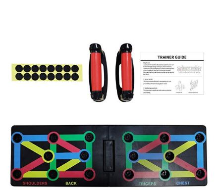 Push Up Board Foldable 9 in 1 System Power Press Gym Fitness