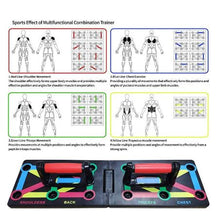 Load image into Gallery viewer, Push Up Board Foldable 9 in 1 System Power Press Gym Fitness