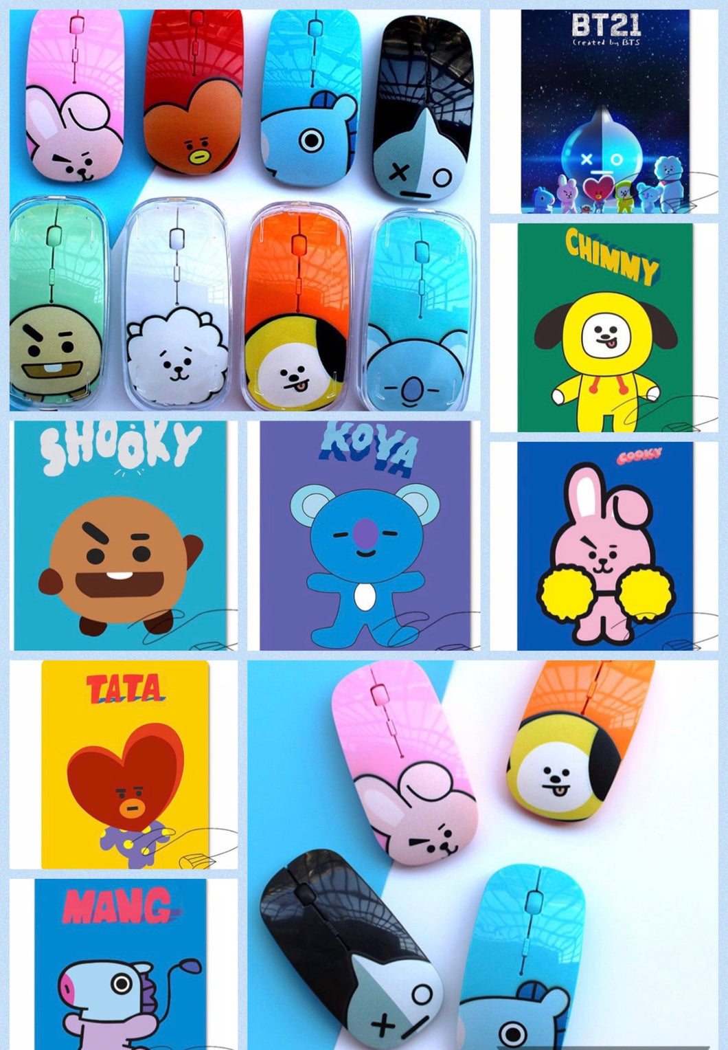 PROMO! BT21 wireless mouse and mouse pad.