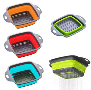 Cute Silicon Collapsible Colander (B1T1)
