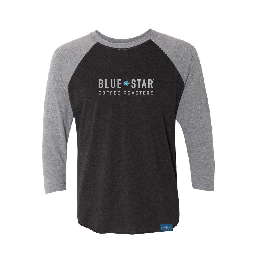 Blue Star Baseball Tee- Gray & Charcoal