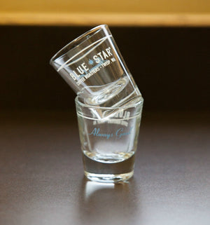 Blue Star Logo Shot Glass