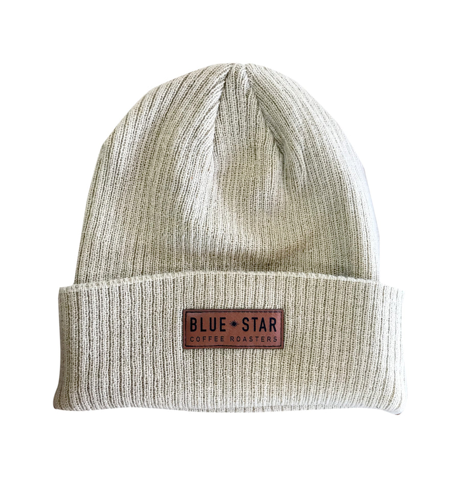 Ribbed Patch Beanie