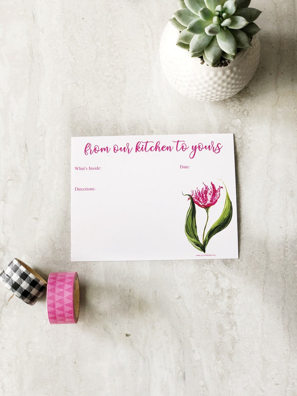 Make and Take Meal Card Set- Flower Set