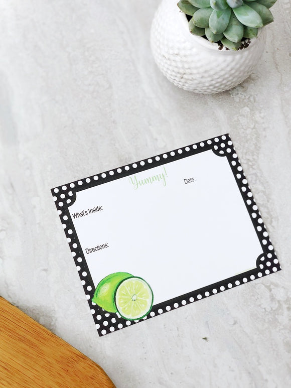 Make and Take Meal Card Set- Lime Set