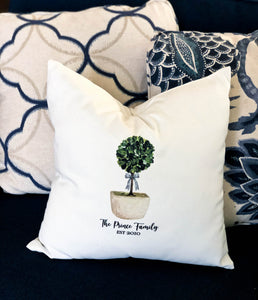 Topiary Pillow Cover