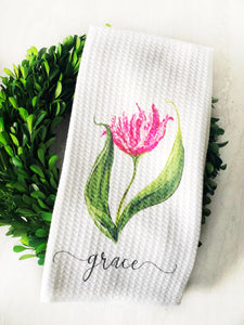 Kitchen Towel-Grace Tulip