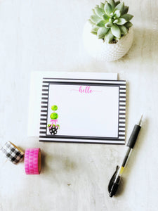 Topiary Hello Notecard Set