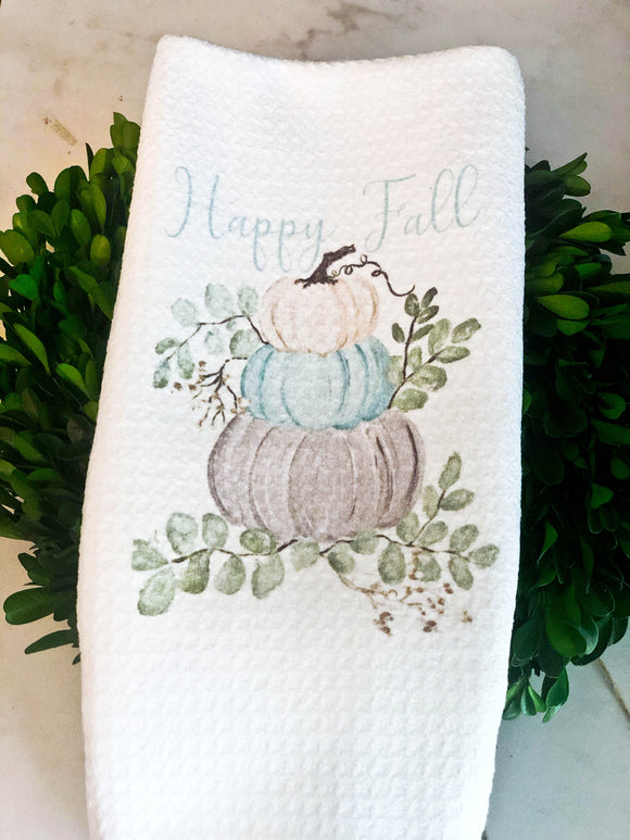 Happy Fall Pumpkin Towel