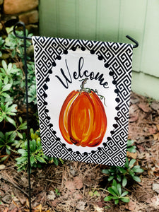Garden Flag- Welcome Pumpkin