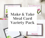 Make and Take Meal Card Variety Pack