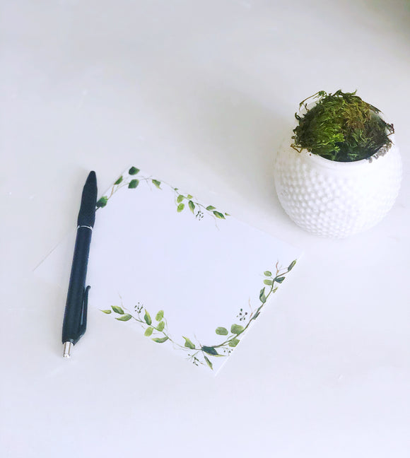 Greenery Vine Notecard Set