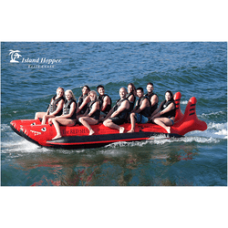 "Island Hopper ""Red Shark"" Sled Boat 10 Passenger Side By Side"