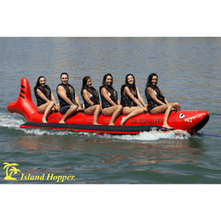 "Island Hopper ""Red Shark"" Sled Boat 6 Passenger In-Line"