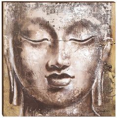 Contemporary Buddha Box Frame 28 x 28