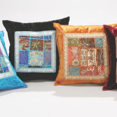 Sari Fabric Cushion Covers