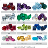 Colored cubic zirconia options- Center stones, Melee/Accents (Single or Bulk)