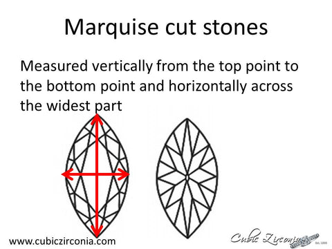 Marquise cut loose stone measurement diagram
