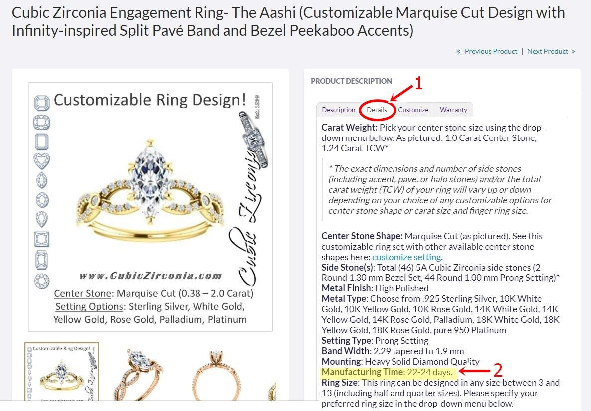 The Aashi engagement ring