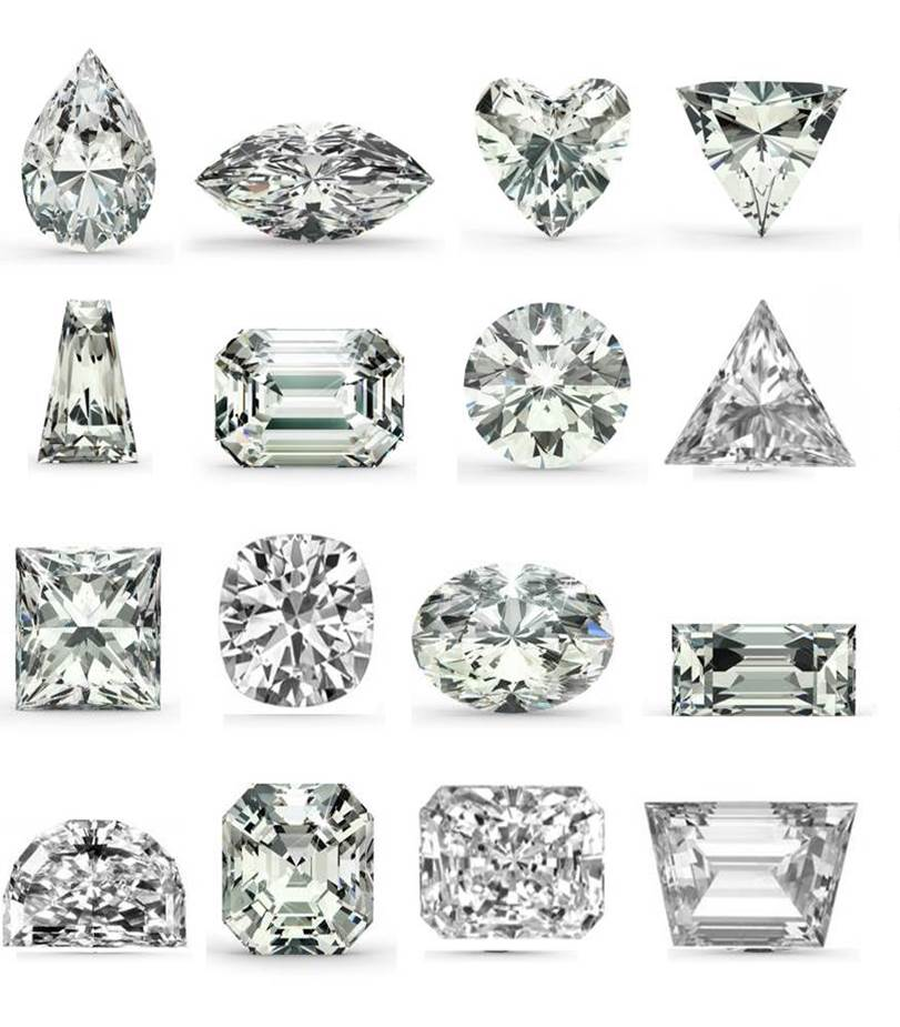 16 shapes of cubic zirconia stones