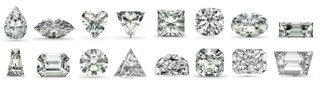 common shapes of cubic zirconia stones