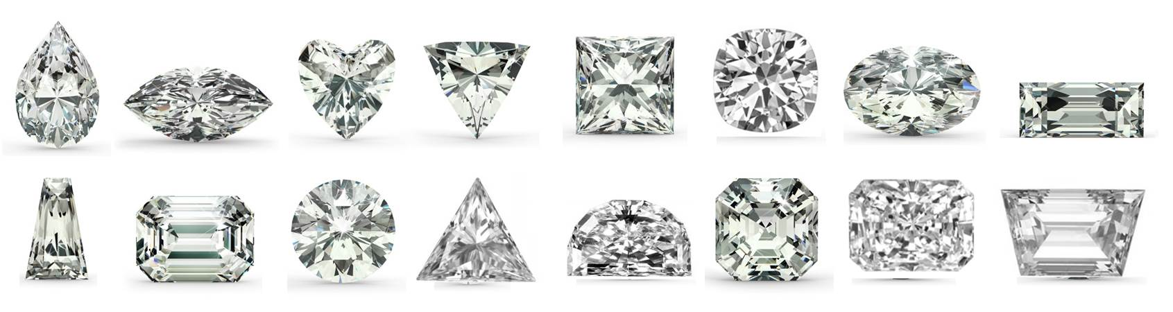 16 cubic zirconia stone shapes
