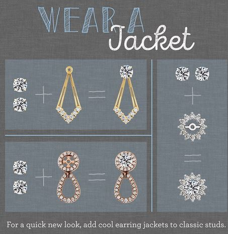 how to wear earring jackets for stud earrings