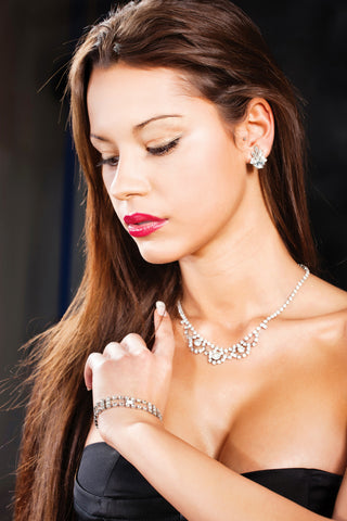 our cubic zirconia jewelry is vidually indistinguishable from diamond to the naked eye!