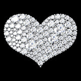 heart sculpture made out of round cut cz diamonds