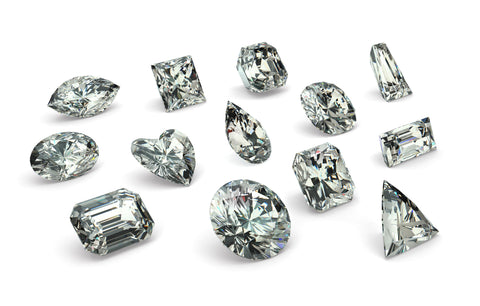 loose 3 dimensional cz diamond stones