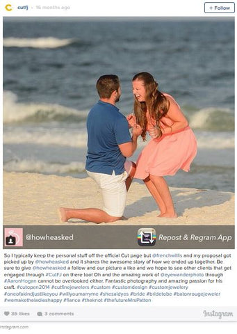 beach engagement proposal