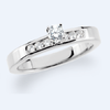 Cubic Zirconia Engagement Ring- The Mable (Customizable 7-stone with Round Channel)