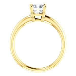 Cubic Zirconia Engagement Ring- The Angelina (Customizable Cushion Cut  Elevated Solitaire)