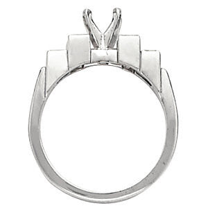 Cubic Zirconia Engagement Ring- The Betsy (Customizable 5-stone with Stairstep Baguettes)