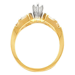 Cubic Zirconia Engagement Ring- The Josephine (11-stone Crown-inspired Baguette Channel with Wide Band)