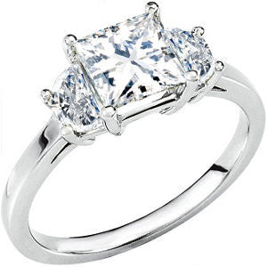 Cubic Zirconia Engagement Ring- The Lexie