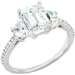 Cubic Zirconia Engagement Ring- The Alesha