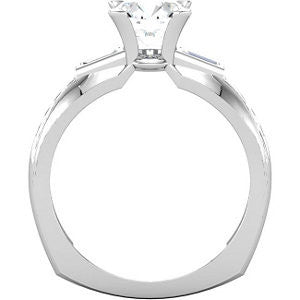 Cubic Zirconia Engagement Ring- The Beverlee