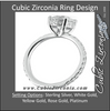 Cubic Zirconia Engagement Ring- The Ashlyn (Round Cut with Enhanced Basket and Thin band)