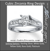 Cubic Zirconia Engagement Ring- The ________ Naming Rights 1262 (2.5 Carat Princess Cut with Channel Bridge Setting)