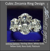Cubic Zirconia Engagement Ring- The ________ Naming Rights 1269 (3.0 TCW Three-Stone Oval Cut)