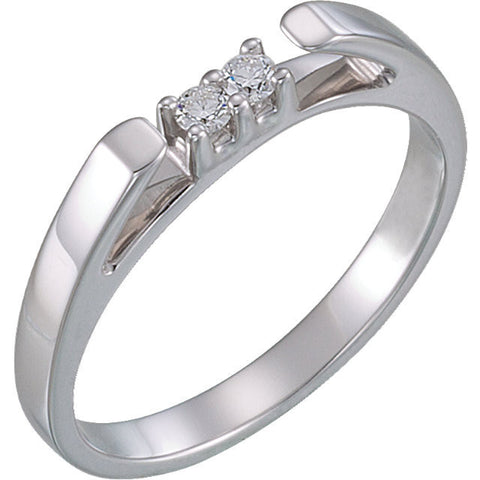 Cubic Zirconia Anniversary Ring Band, Style 108-96 (Sherri Matching Band)